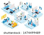 ophthalmology clinic and... | Shutterstock .eps vector #1474499489