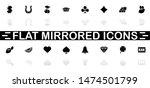 slot machine icons   black...