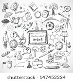 back to school big doodles set. ... | Shutterstock .eps vector #147452234