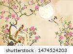 3d  mural poster wall printable ... | Shutterstock . vector #1474524203