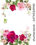 wedding invitation with bouquet ... | Shutterstock .eps vector #1474534940