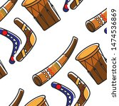 boomerangs with ornament horn...   Shutterstock .eps vector #1474536869