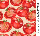 Red Tomatoes  Watercolor...