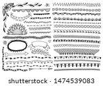 doodle frames  edge lines ... | Shutterstock .eps vector #1474539083