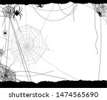 spider and web elements  spooky ...   Shutterstock .eps vector #1474565690
