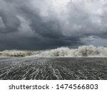 Storm At Sea  Storm Warning On...