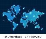 pixel world map with spot... | Shutterstock . vector #147459260