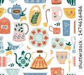 Kitchen Seamless Pattern Of...