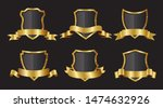 golden shield collection.... | Shutterstock .eps vector #1474632926