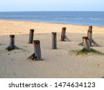 Short  Wooden Wave Breakers On...