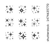 set icons of sparkling and... | Shutterstock .eps vector #1474635770