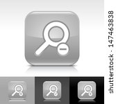 loupe icon set. gray color...