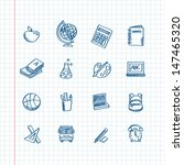 back to school   sketchy icons | Shutterstock .eps vector #147465320