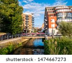 Little Venice in Kingston upon Thames river in a sunny day - London UK