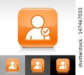 user icon set. orange color...