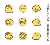 weather line icon template... | Shutterstock .eps vector #1474674590