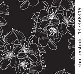 elegant seamless pattern with... | Shutterstock . vector #147468419