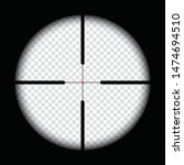 realistic sniper scope crosshairs view. sniper sight with measurement marks. sniper scope template isolated on transparent background. rifle optical sight.