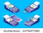 pos terminal set  vector... | Shutterstock .eps vector #1474697480