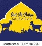 vector illustration. muslim... | Shutterstock .eps vector #1474709216