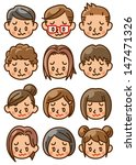 people face icon | Shutterstock . vector #147471326