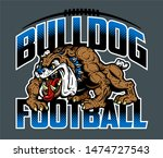 bulldog football team design... | Shutterstock .eps vector #1474727543