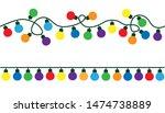 garlands  christmas decorations ... | Shutterstock .eps vector #1474738889