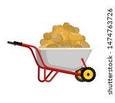 Wheelbarrow And Potato....