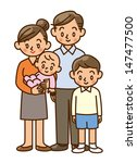 family  home  two generation | Shutterstock . vector #147477500