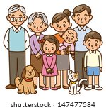 family  home  three generation  ... | Shutterstock . vector #147477584