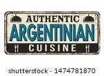 authentic argentinian cuisine... | Shutterstock .eps vector #1474781870
