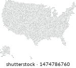 vector usa map filled with a... | Shutterstock .eps vector #1474786760