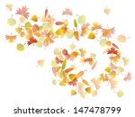 colorful autumn leaves spiral... | Shutterstock .eps vector #147478799