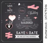 chalkboard style wedding design ... | Shutterstock .eps vector #147479246