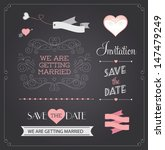chalkboard style wedding design ... | Shutterstock .eps vector #147479249