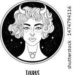 illustration of taurus... | Shutterstock .eps vector #1474794116