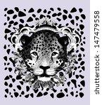 jaguar pencil sketch | Shutterstock .eps vector #147479558