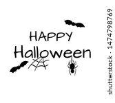 illustration of happy halloween ... | Shutterstock . vector #1474798769