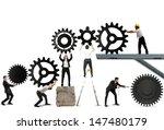 teamwork works together to... | Shutterstock . vector #147480179