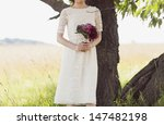 wedding bouquet of red and pink ... | Shutterstock . vector #147482198