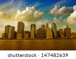 buildings of lower manhattan as ... | Shutterstock . vector #147482639