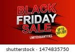 black friday sale banner design.... | Shutterstock .eps vector #1474835750