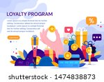 customer loyalty marketing... | Shutterstock .eps vector #1474838873