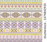 mayan american indian pattern...   Shutterstock .eps vector #1474842920