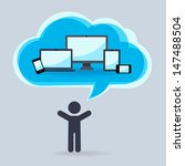 cloud technology for  different ... | Shutterstock .eps vector #147488504