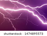 lightnings and thunder bolt...   Shutterstock . vector #1474895573