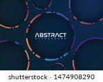 cool abstract design background ... | Shutterstock .eps vector #1474908290