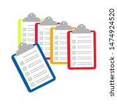 clipboard  check list ... | Shutterstock .eps vector #1474924520