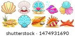 seashell vector set graphic... | Shutterstock .eps vector #1474931690