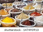 Indian Colorful Spices And Tea...